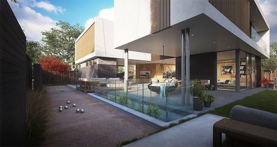 terrain boules maison design