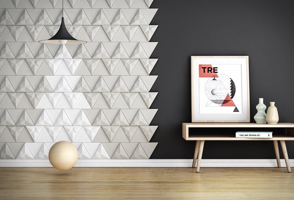 Donnez du relief vos murs avec du carrelage g om trique - Carrelage geometrique ...