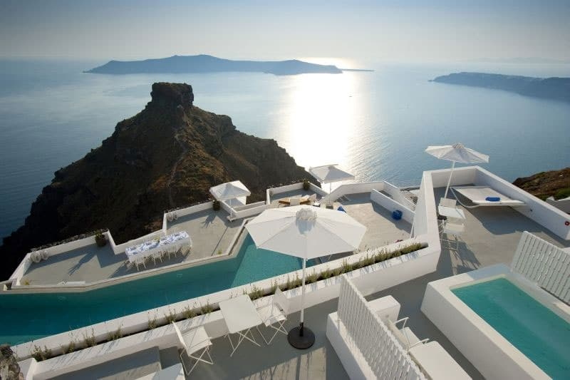 Les 10 meilleurs h tels avec piscine santorin en gr ce for Piscine hotel explorer