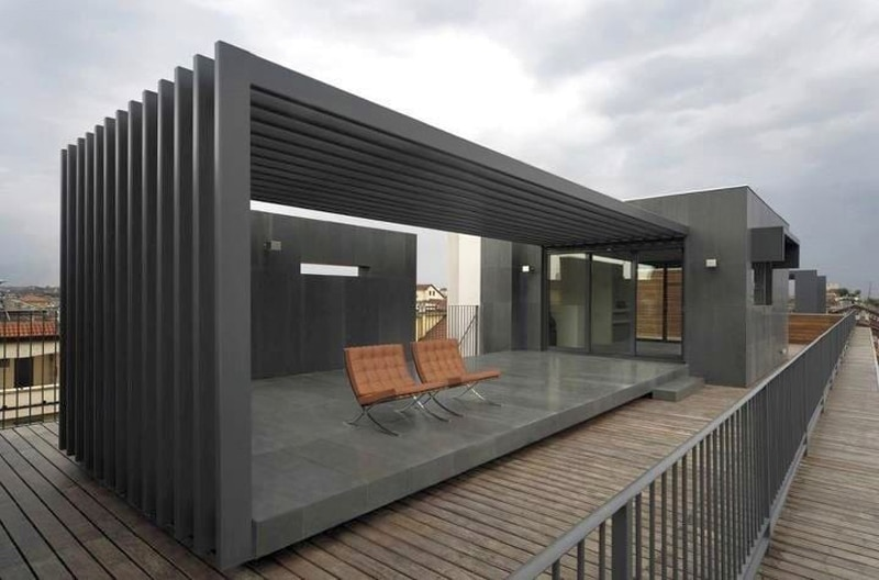 20 id es pour installer une pergola en aluminium dans le. Black Bedroom Furniture Sets. Home Design Ideas