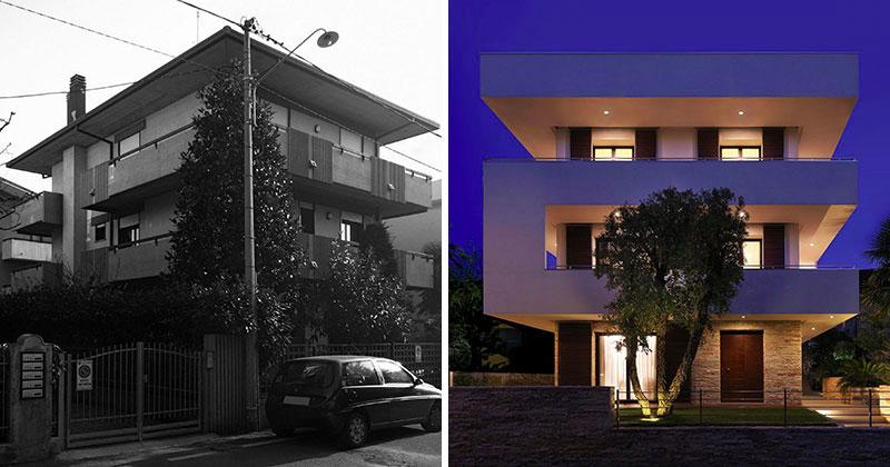 transformation d 39 un immeuble en r sidence contemporaine. Black Bedroom Furniture Sets. Home Design Ideas
