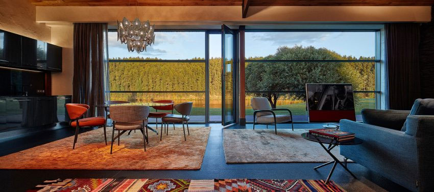 tapis colorés salon