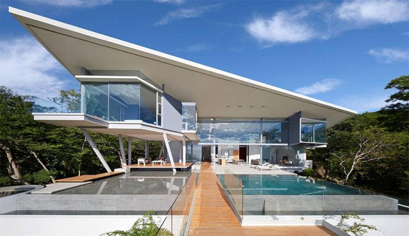 maison futuriste cr e par canas arquitectos. Black Bedroom Furniture Sets. Home Design Ideas