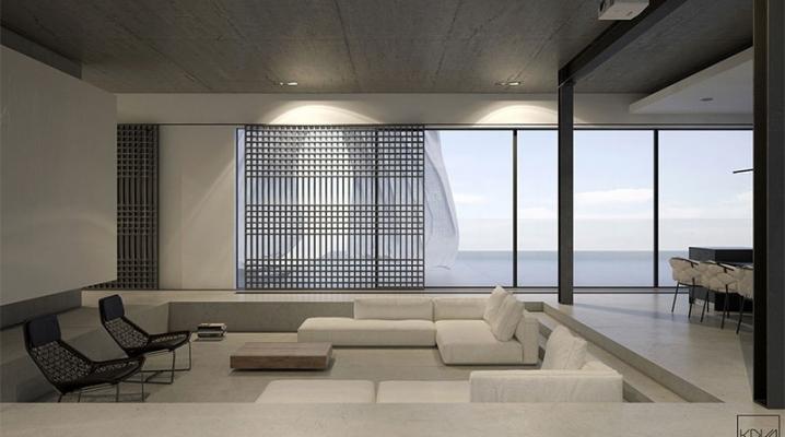 3 Maisons Monochromes Minimalistes Avec Éclairage Moderne