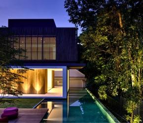 éclairage-exterieur-maison-moderne