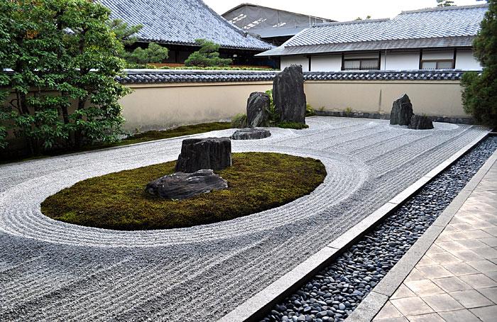 jardin japonais graviers. Black Bedroom Furniture Sets. Home Design Ideas