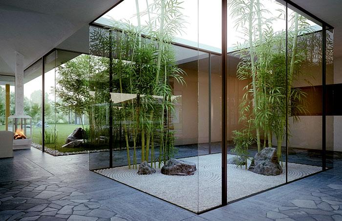 jardin moderne zen jardin-zen-interieur-moderne