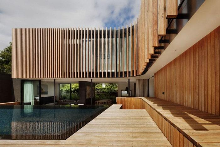 maison cubique bardage bois