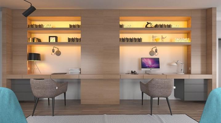 bureau double 10 id es pour partager son bureau. Black Bedroom Furniture Sets. Home Design Ideas
