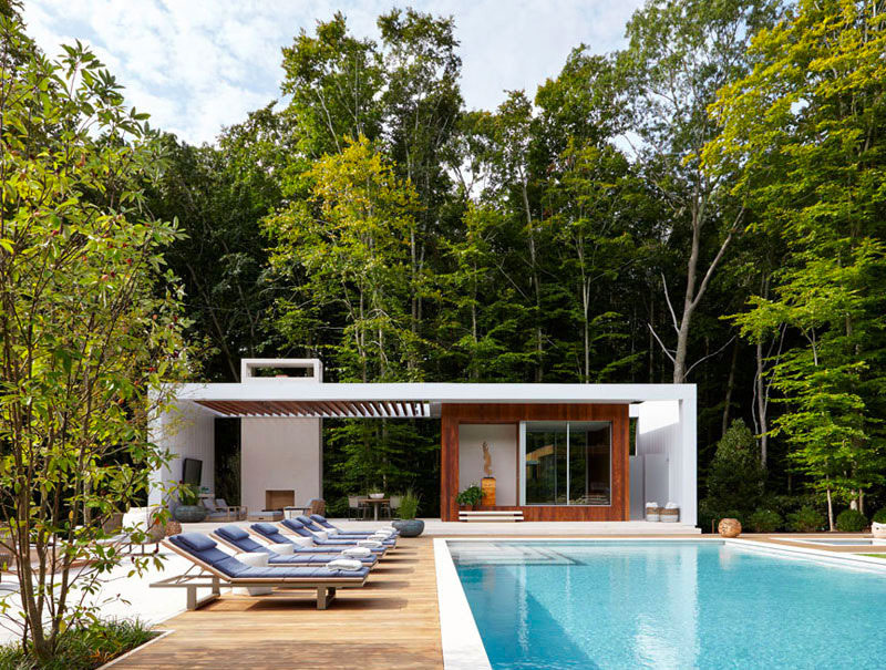 11 id es pour int grer un pool house moderne cot de for Club piscine cabanon