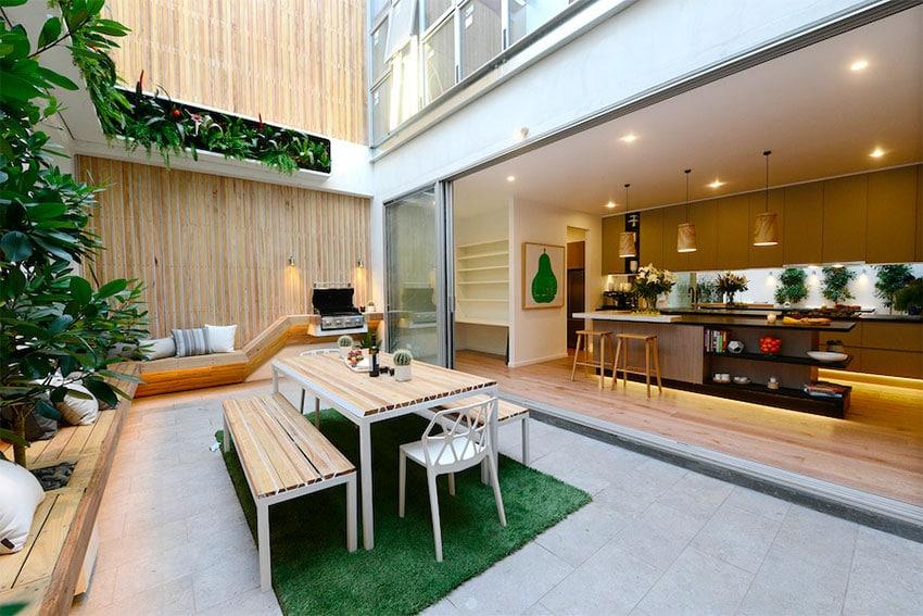 cuisine ext rieure 10 id es pour am nager une cuisine ext rieure. Black Bedroom Furniture Sets. Home Design Ideas