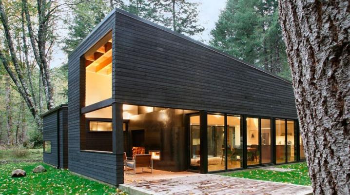 Maison Contemporaine En Bois Noir De Robert Hutchison Architecture