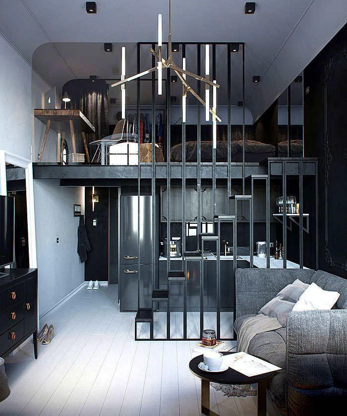 12 id es surprenantes pour am nager et d corer un petit appartement. Black Bedroom Furniture Sets. Home Design Ideas