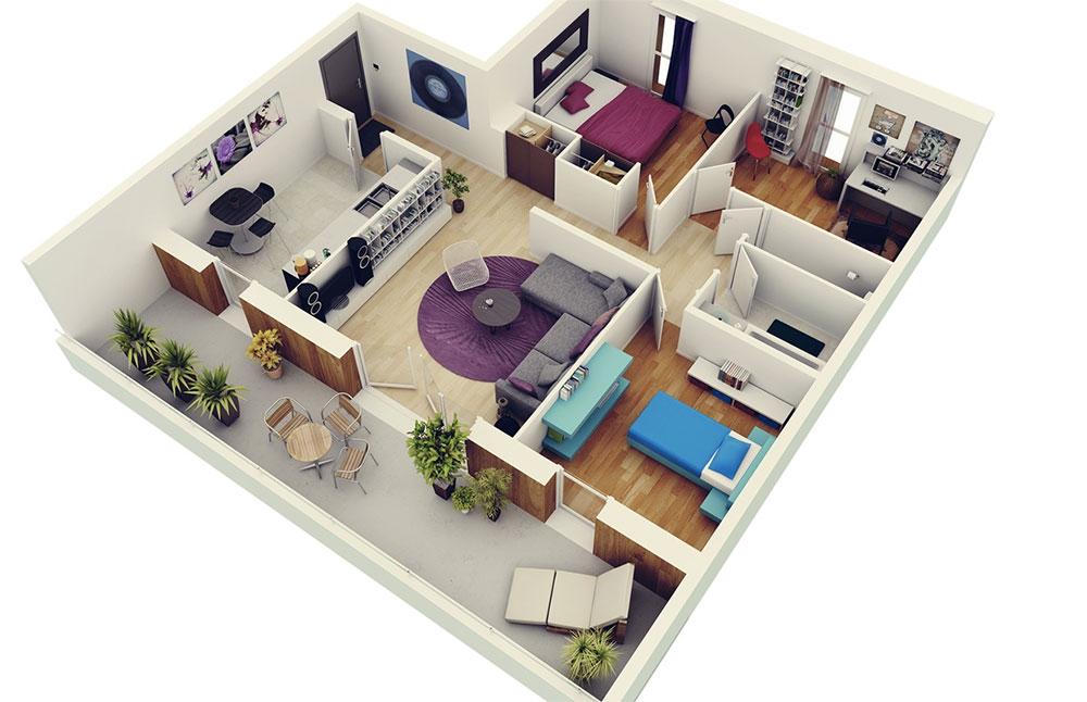 Plan Maison 3chambres