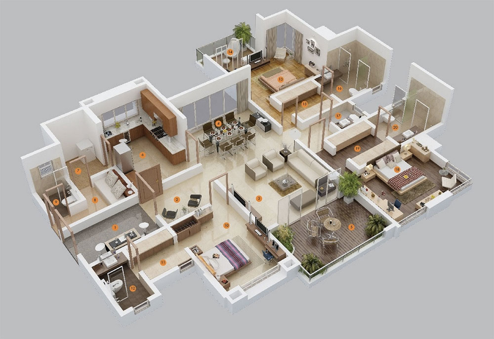 plan-maison-contemporaine-3chambres