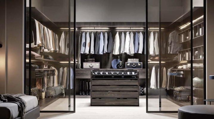 13 id es pour am nager un dressing pour hommes dans une. Black Bedroom Furniture Sets. Home Design Ideas