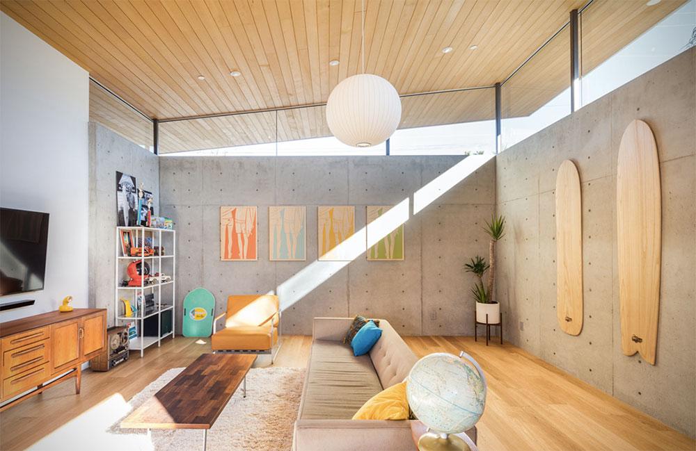maison californienne des ann es 60 cr e par surfside projects. Black Bedroom Furniture Sets. Home Design Ideas