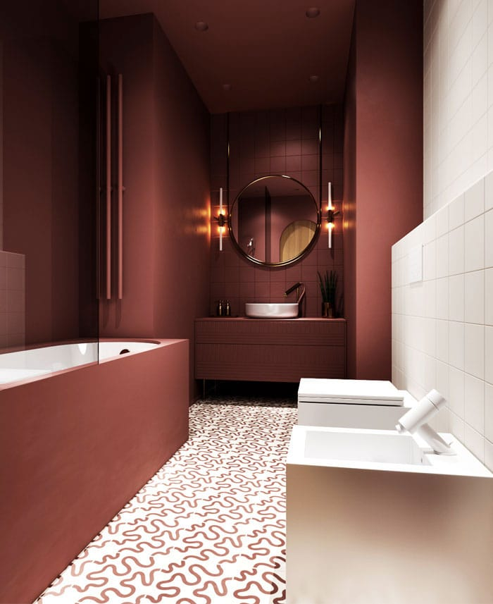 Salle Bains Rouge