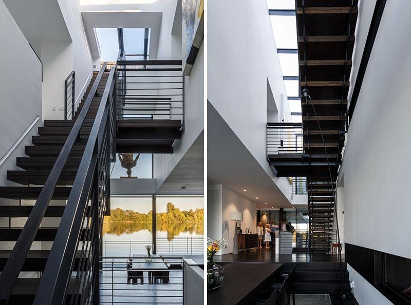 escalier-metal-maison-moderne