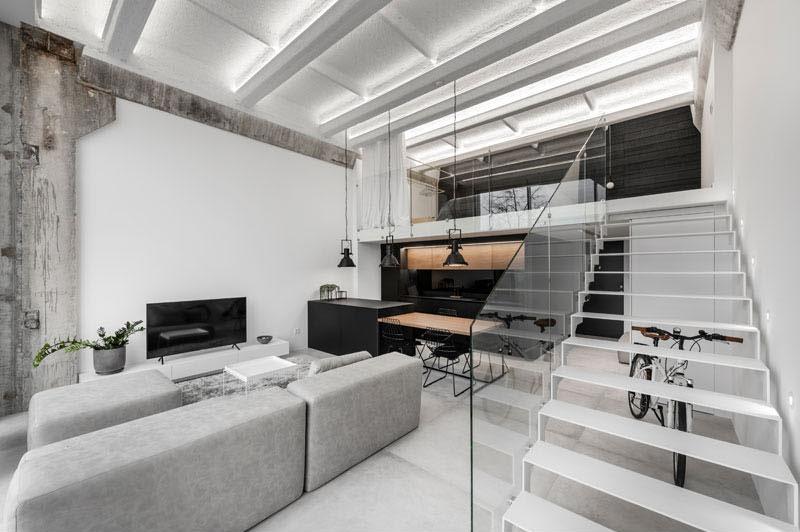 escalier-verre