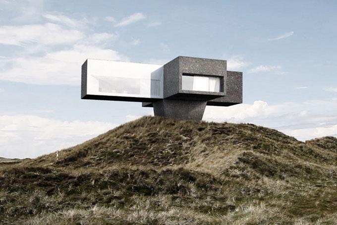 maison forme bizarre