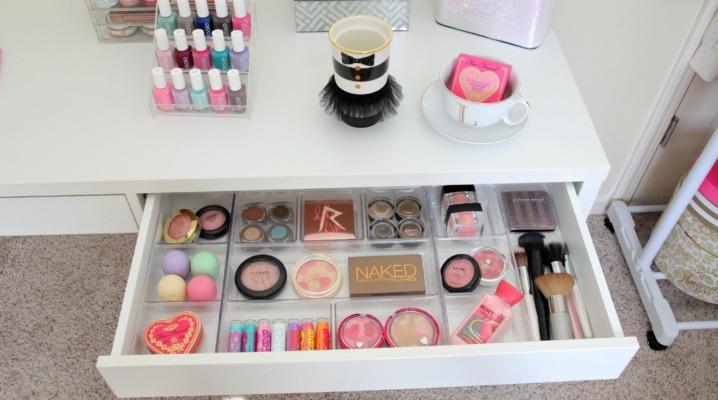 idée rangement maquillage